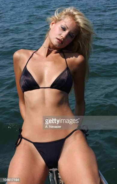 Siren model Kristin Demauro during Siren Models Sailing with Playboy Film Crew off the Hamptons Coast at The Talisman in Sag Harbor in Long Island...