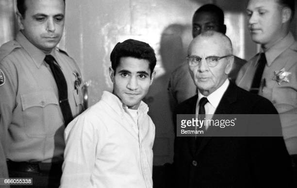 Sirhan Sirhan and his attorney Russel E Parsons