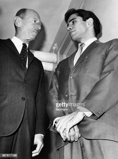 Sirhan Sirhan is shown here with his attorney Emile Zola Berman Sirhan Sirhan testified for 10 minutes at his own murder trial as his defense...