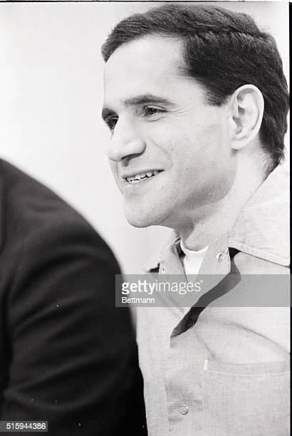 Sirhan Sirhan killer of Robert F Kennedy smiles during his parole hearing