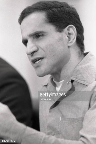 Sirhan Sirhan killer of Robert F Kennedy smiles during his parole hearing