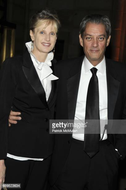 Siri Hustvedt and Paul Auster attend AMERICANS FOR THE ARTS 2009 National Arts Awards at Cipriani 42nd Street on October 5 2009 in New York City