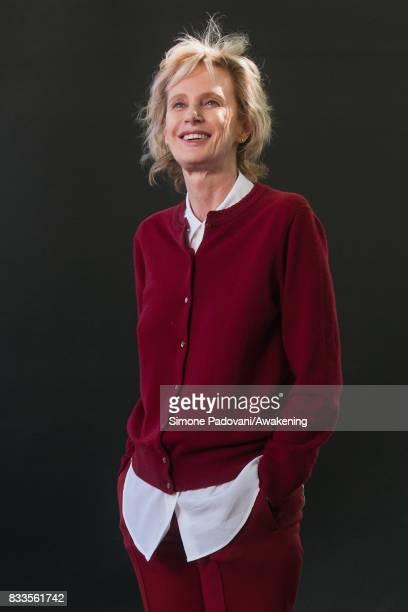 Siri Hustvedt attends a photocall during the Edinburgh International Book Festival on August 17 2017 in Edinburgh Scotland