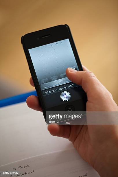 siri - siri mobile app stock pictures, royalty-free photos & images