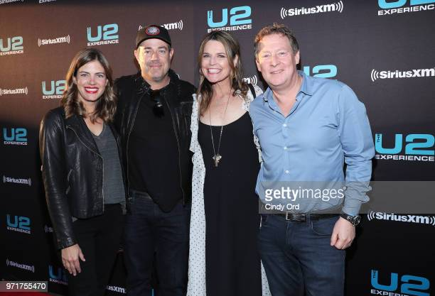 Siri Pinter Carson Daly Savannah Guthrie and Michael Feldman attend SiriusXM's private concert with U2 at The Apollo Theater as the band takes a one...