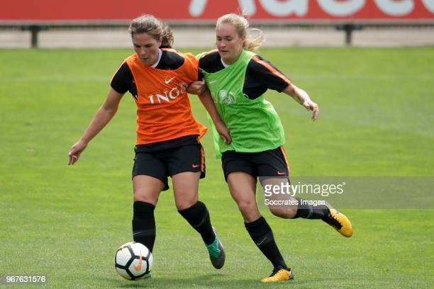 Siri Worm of Holland Women, Desiree van Lunteren of Holland Women during the Training Holland Women at the KNVB Campus on June 5, 2018 in Zeist...