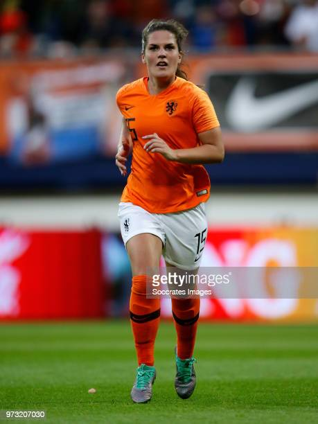 Siri Worm of Holland Women during the World Cup Qualifier Women match between Holland v Slovakia at the Abe Lenstra Stadium on June 12, 2018 in...