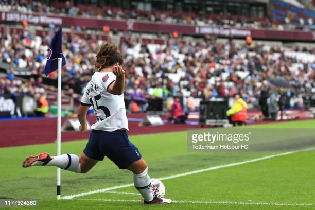 Siri Worm of Tottenham Hotspur during the Barclays FA Women's Super League match between West Ham United and Tottenham Hotspur at London Stadium on...