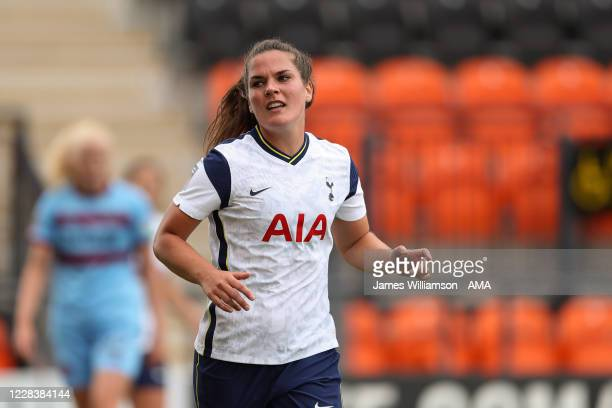 Siri Worm of Tottenham Hotspur during the Barclays FA Women's Super League between Tottenham Hotspur v West Ham United at The Hive on September 6,...