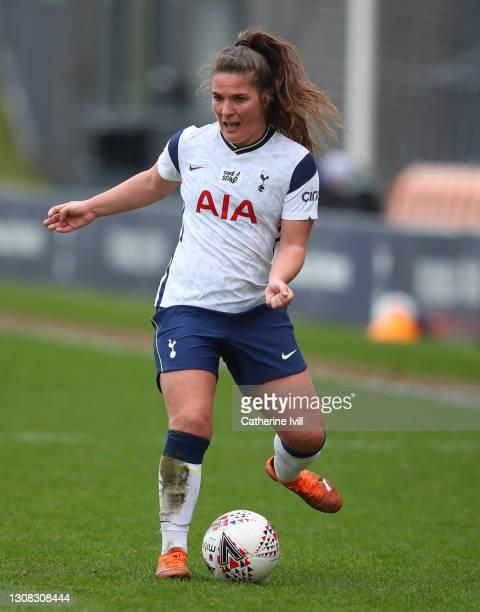 Siri Worm of Tottenham Hotspur during the Barclays FA Women's Super League match between Tottenham Hotspur Women and Bristol City Women at The Hive...