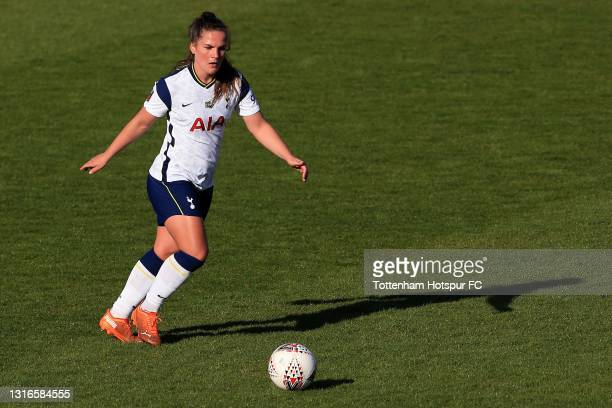 Siri Worm of Tottenham Hotspur during the Barclays FA Women's Super League match between Tottenham Hotspur Women and Chelsea Women at The Hive on May...