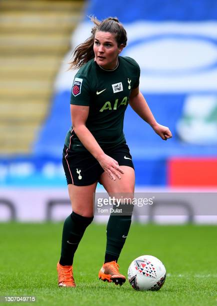Siri Worm of Tottenham Hotspur in action during the Barclays FA Women's Super League match at Madejski Stadium on March 14, 2021 in Reading, England....