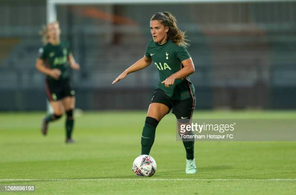 Siri Worm of Tottenham Hotspur Women during the pre-season friendly between Tottenham Hotspur Women and London Bees at The Hive on August 25, 2020 in...