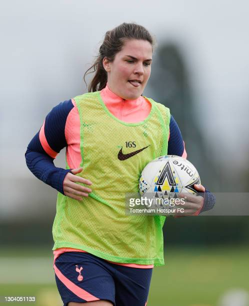 Siri Worm of Tottenham Hotspur Women during the Tottenham Hotspur Women training session at Tottenham Hotspur Training Centre on February 25, 2021 in...