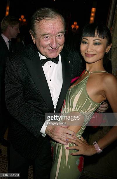 Sirio Maccioni and Bai Ling during Sirio Maccioni The Story of My Life and Le Cirque Book Party at Le Cirque 2000 in New York City New York United...