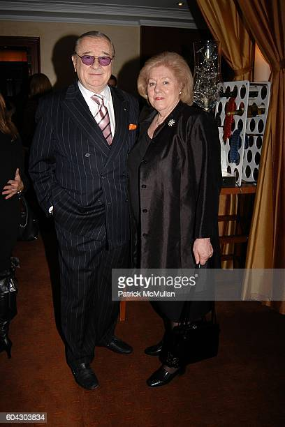 Sirio Maccioni and Egidiana Maccioni attend Savoring Citymeals An Intimate Sunday Dinner with Daniel at Daniel on March 12 2006 in New York