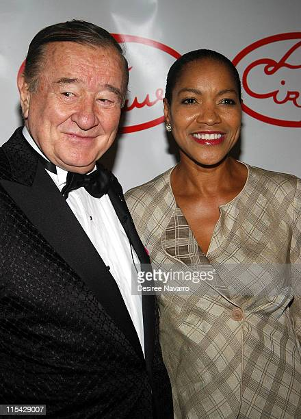 Sirio Maccioni and Grace Hightower during Le Cirque Opening Party at One Beacon Court at One Beacon Court in New York City New York United States