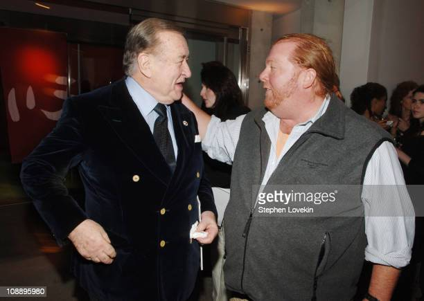 Sirio Maccioni and Mario Batali during Gourmet Magazine's 65th Anniversary Party With a First Look at Morimoto New York at Morimoto in New York City...