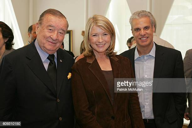 Sirio Maccioni Martha Stewart and Eric Ripert attend MARTHA STEWART SIRIO MACCIONI and ANDREW BORROK Host a Lucheon to Celebrate 'NO RESERVATIONS' at...