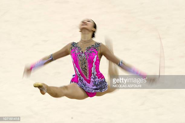 Sirirat Lueprasert of Thailand performs during the rhythmic gymnastics individual allaround final during the 16th Asian Games on November 26 2010...
