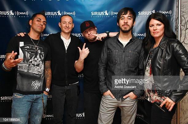 Sirius Octane Channel host Jose singer Chester Bennington Linkin Park Sirius Fraction Channel host Cullen guitarist Mike Shinoda of Linkin Park and...