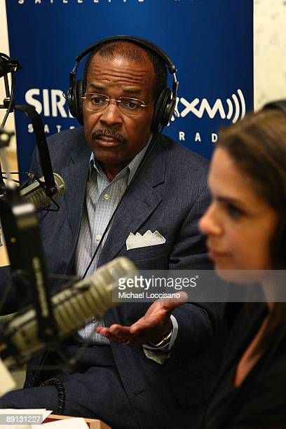 Sirius XM host Joe Madison and correspondent Soledad O'Brien take part in a Black in America 2 Roundtable moderated by O'Brien at the SIRIUS XM...