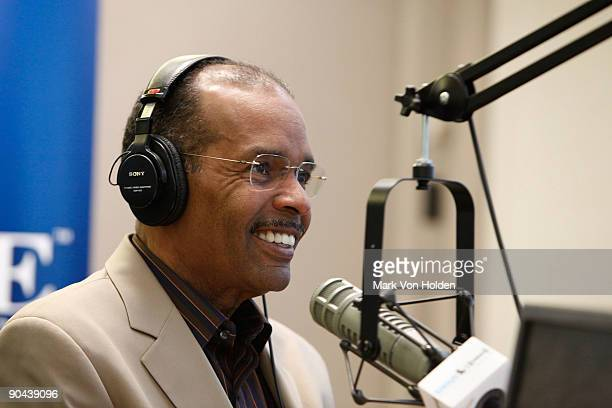 Sirius XM host Joe Madison attends the Jim Brown interview at SIRIUS XM Studio on September 8 2009 in New York City