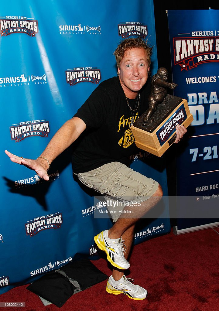 Sirius XM host Scott Ferrall attends the SIRIUS XM Radio celebrity fantasy football draft at Hard Rock Cafe - Times Square on July 21, 2010 in New York City.