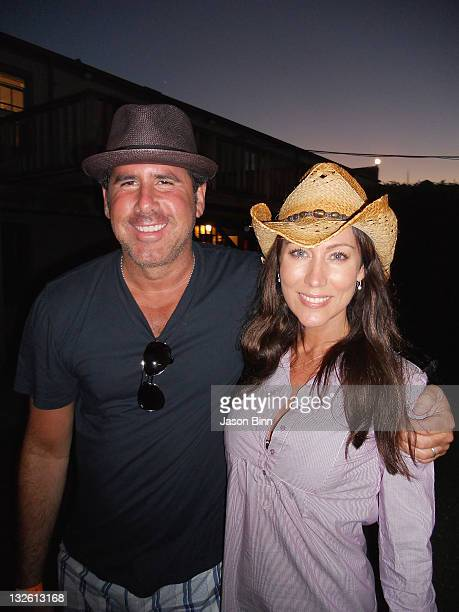 Sirius XM Radio Ross Zapin and Melissa Zapin pose circa August 2010 in The Hamptons