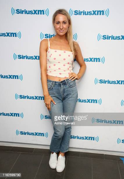 SiriusXM host and comedian Nikki Glaser poses for photos at the SiriusXM Studios on July 17 2019 in New York City