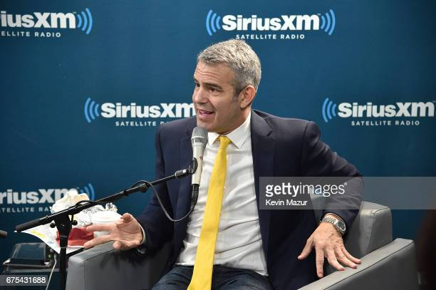 SiriusXM host Andy Cohen speaks during the SiriusXM Town Hall with Goldie Hawn and Amy Schumer on Andy CohenÕs Exclusive SiriusXM channel Radio Andy...