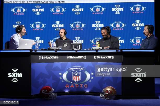 R SiriusXM host Bruce Murray SiriusXM host Bruce Gradkowski NFL defensive end Cameron Jordan of the New Orleans Saints and SiriusXM host Brady Quinn...
