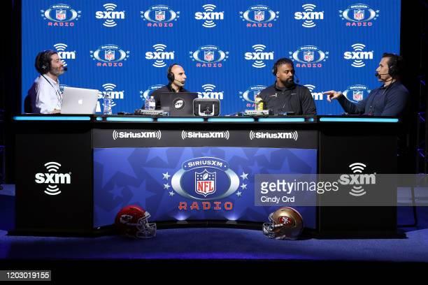 SiriusXM host Bruce Murray SiriusXM host Bruce Gradkowski NFL defensive end Cameron Jordan of the New Orleans Saints and SiriusXM host Brady Quinn...