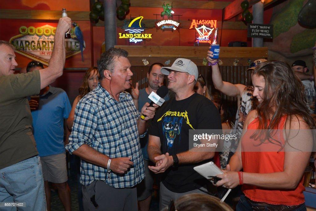 SiriusXM host Buzz Brainard greets fans as he hosts The
