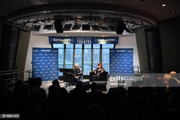 SiriusXM Host Charlie Monk and Recording Artist and Author Naomi Judd speak in the SiriusXM Music City Theatre on November 15 2017 in Nashville City