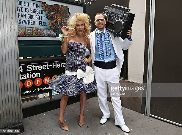 SiriusXM Host Jenny McCarthy and husband/ actor Donnie Wahlberg kick off SiriusXM's Prom Radio Channel on May 17 2016 in New York New York