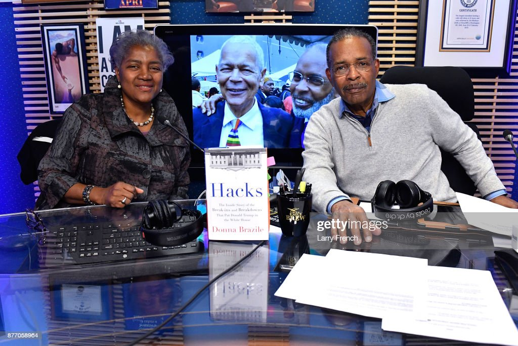 SiriusXM Host Joe Madison, The Black Eagle, Interviews Former DNC Chair Donna Brazile Live At The SiriusXM Studios In Washington D.C.