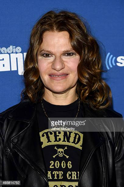 SiriusXM host Sandra Bernhard attends Andy Cohen SiriusXM celebrate the launch of Cohen's New Exclusive SiriusXM Channel Radio Andy at PHD Rooftop...