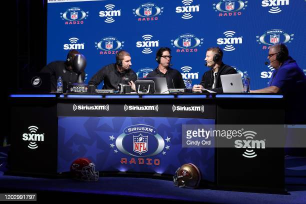 SiriusXM host Solomon Wilcots NFL defensive end Joey Bosa of the Los Angeles Chargers SiriusXM host Ed McCaffrey NFL running back Christian McCaffrey...