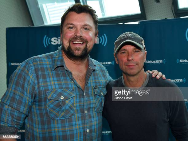 SiriusXM Host Storme Warren and Recording Artist Kenny Chesney arrive at SiriusXM Studios on October 23 2017 in Nashville Tennessee