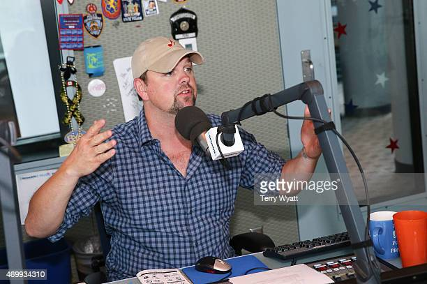 SiriusXM Host Storme Warren speaks with The Cadillac Three at SiriusXM Studios on April 16 2015 in Nashville Tennessee