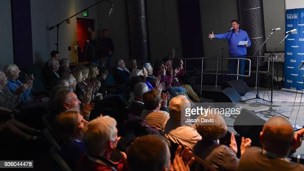 SiriusXM Host Storme Warren welcomes the crowd at SiriusXM Nashville Studios at Bridgestone Arena on March 21 2018 in Nashville Tennessee