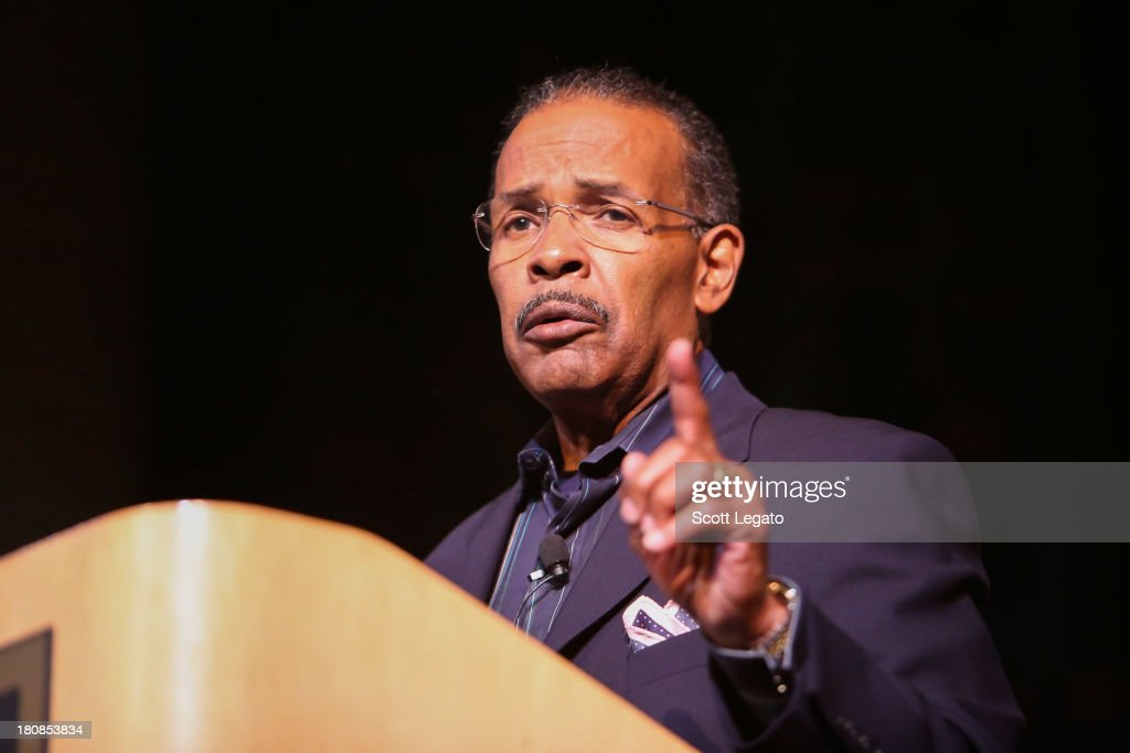 SiriusXM moderator Joe Madison speaks at Charles H. Wright Museum of African American History on September 16, 2013 in Detroit, Michigan.