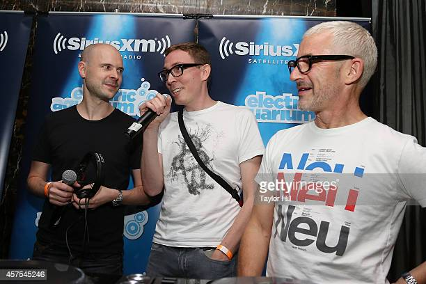 SiriusXM radio personality Liquid Todd interviews Jono Grant Paavo Siljamaki and Tony McGuinness before Above Beyond's private concert for SiriusXM...