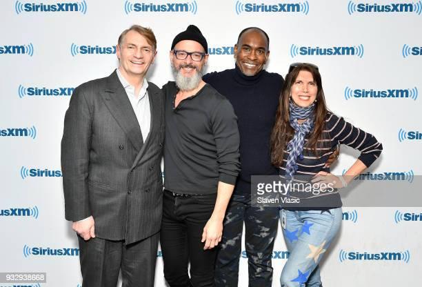 SiriusXM Studio 54's Marc Benecke hair and wig designer Charles LaPointe costume designer Paul Tazewell and Sirius XM Studio 54's Myra Scheer visit...