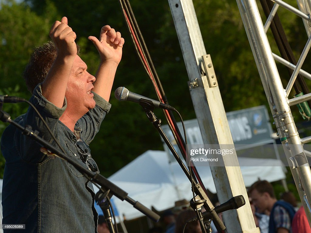 SiriusXM's Buzz Brainard welcomes the audience during the Americana's Cross County Lines at The Park at Harlinsdale Farm on May 31, 2014 in Franklin, Tennessee.