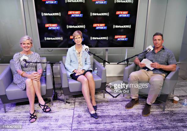 SiriusXM's Chris Cuomo hosts a bipartisan conversation with former Governors Christine Todd Whitman and Jennifer Granholm at the SiriusXM Studios on...
