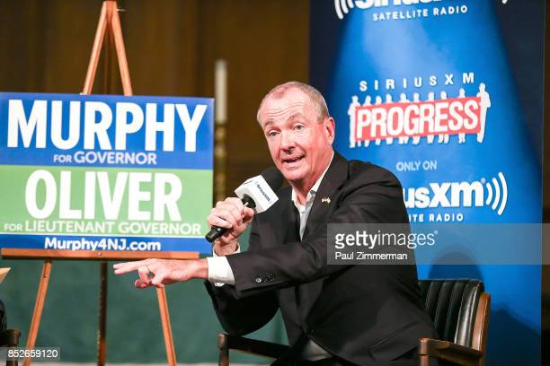 SiriusXM's Dean Obeidallah Hosts A Town Hall Event With Phil Murphy Democratic Nominee For Governor Of New Jersey on September 23 2017 in Montclair...