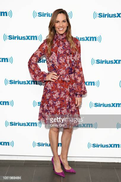 SiriusXM's Entertainment Weekly Radio Spotlight with Hilary Swank at SiriusXM Studios on October 12 2018 in New York City