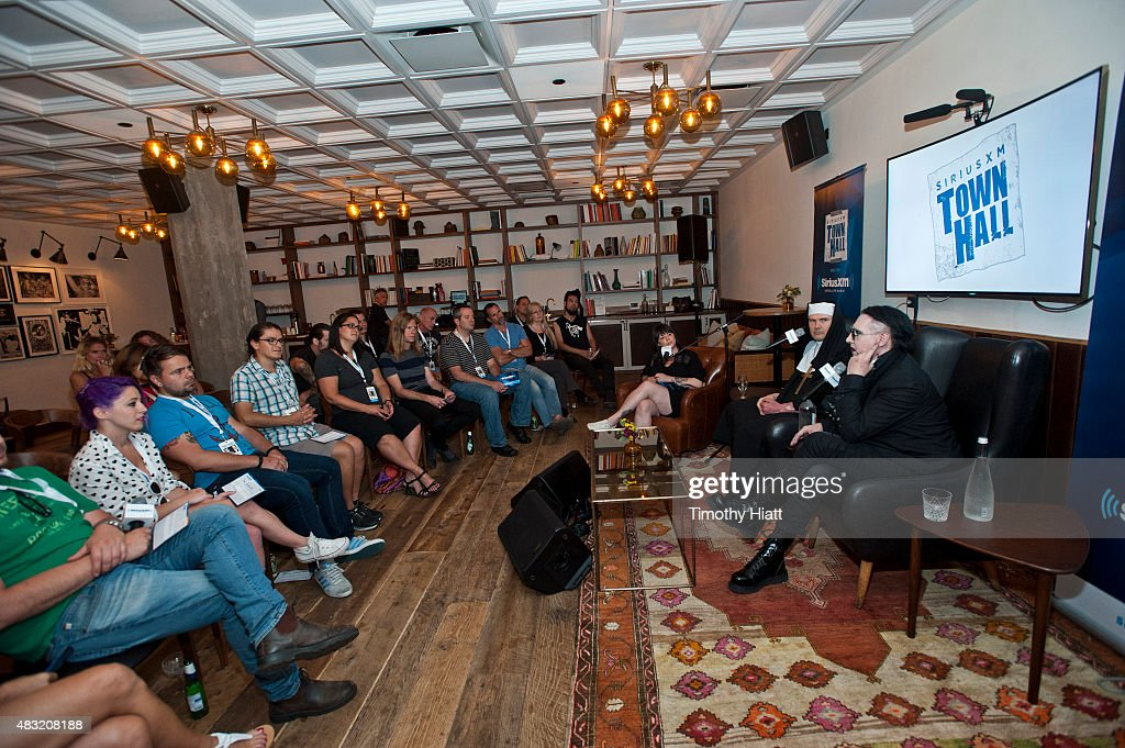 SiriusXM's Town Hall With Marilyn Manson And Billy Corgan : News Photo